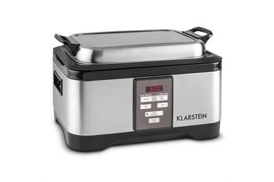 cuiseur vapeur klarstein tastemaker cuiseur sous vide slow cooker 6l 550 w acier argent darty. Black Bedroom Furniture Sets. Home Design Ideas
