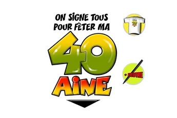 Tout pour la fête Anniversaire T-shirt anniversaire 40 aine + stylo