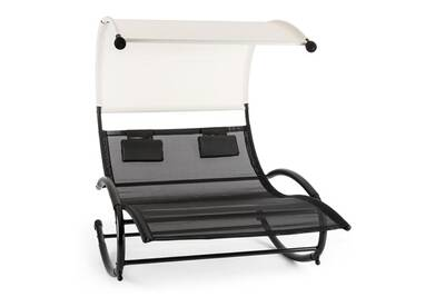Balancelle De Jardin Blumfeldt Suncruise Chaise Longue Bascule Double Transat Pare Soleil