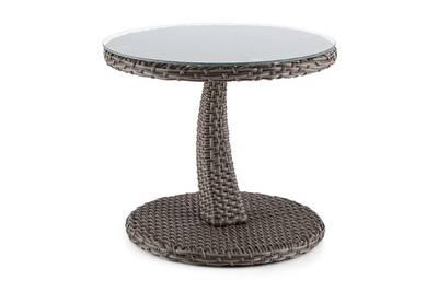Table de jardin Blumfeldt Tabula Table d\'appoint plateau verre 50cm ...