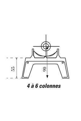 Accessoires chauffage central Chappee Pied amovible DUNE 4 et 6 colonnes