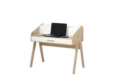 Petit meuble simmob bureau vintage rideau blanc tiroir blanc