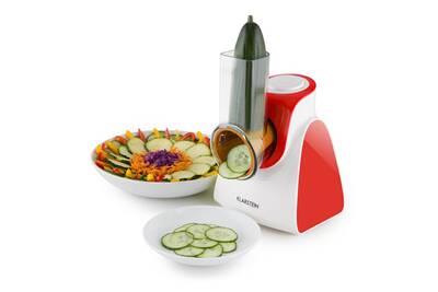 Hachoir klarstein carrot rock r pe lectrique r pe l gumes 150w 5 lames rouge darty - Rape electrique pour legumes ...