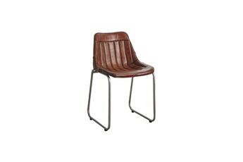 e7acc804c994b Ensemble table   chaise AUBRY GASPARD MCH 1420 C Chaise en cuir et métal  Aubry Gaspard