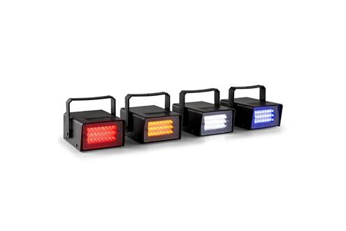 Mini stroboscope led set rgbw 4 parties