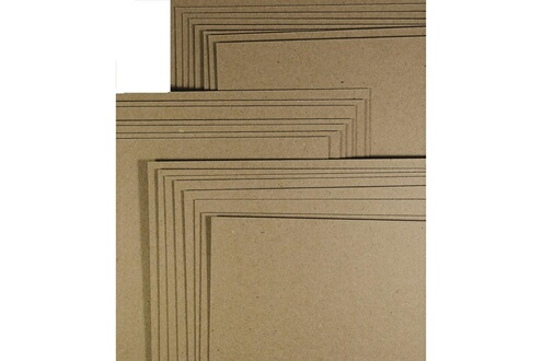 Alpexe Carte / Carton Kraft Naturel Marron Recycle - Epais - A4 280gm - Pack de 50 feuilles