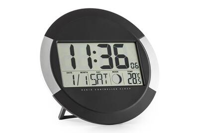 horloges one concept clockwork horloge murale num rique sans fil calendrier thermom tre darty. Black Bedroom Furniture Sets. Home Design Ideas