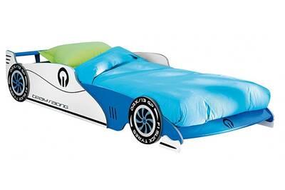 lit enfant pegane lit voiture enfant bleu sommier inclu 209 x 405 x 1015 cm - Lit Voiture Enfant