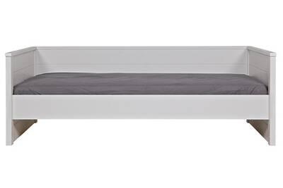 Conception innovante 16033 aa42c Lit canapé enfant blanc en pin brossé, H 74 x L 100 x P 209 cm