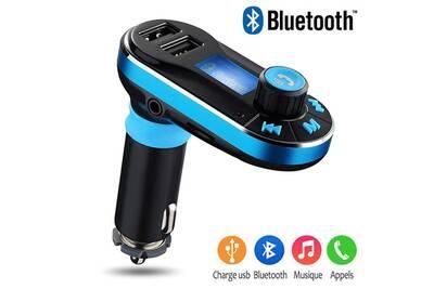 kit main libre kit bluetooth karylax kit mains libres bluetooth voiture bleu pour apple iphone. Black Bedroom Furniture Sets. Home Design Ideas