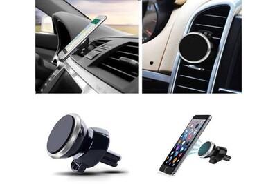 Support Voiture Magnetique pour SAMSUNG Galaxy Note 4 Aimant Noir Ventilateur Universel 360 Rotatif