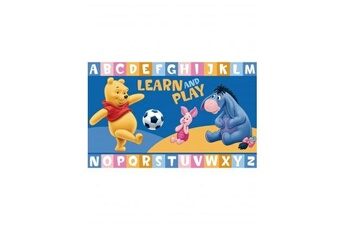 Tapis enfant Winnie Winnie ourson learn and play bleu 50 x 80 cm tapis enfant et disney par winnie