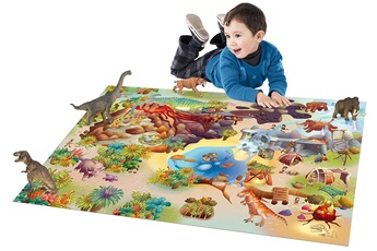 Tapis enfant House Of Kids Connecte dinosaures multicolore 100 x 150 cm fabriqué en europe tapis pour enfants chambre par house of kids