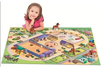 Tapis enfant House Of Kids Connecte equestre multicolore 100 x 150 cm fabriqué en europe tapis pour enfants chambre par house of kids