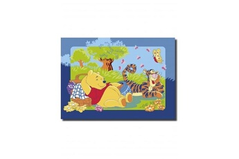 Tapis enfant Winnie Winnie ourson picnic multicolore 95 x 133 cm fabriqué en europe tapis enfant et disney par winnie