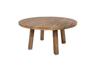 Table de jardin Gecko Jardin Table ronde en teck massif recyclé d ...