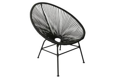 Chaise et fauteuil de jardin Mobilier Fauteuil bas 4 pieds en fil de ...