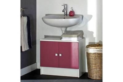 Meuble salle de bain Mobilier Meuble sous vasque 2 portes ...