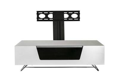 Meuble Tv Chromium Blanc 1200mm Avec Potence