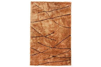 Tapis Shaggy coloris Marron, 160 x 230 cm -PEGANE-