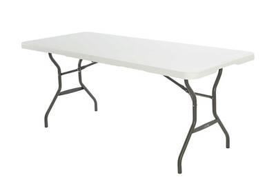 Table de jardin Mobilier Table de jardin en résine pliante blanche ...