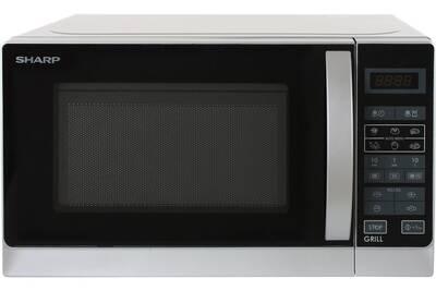 Sharp R 642 In W Four Micro Ondes Grill Pose Libre 20 L 800 Watt Argenté E