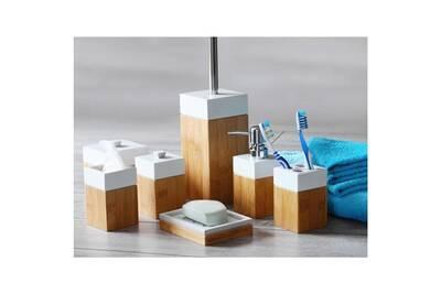 Accessoires de salle de bain GENERIQUE MK Bamboo PARIS - Set ...