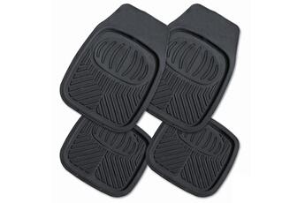 Jeu de 4 tapis BACS PVC noirs