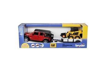 Circuits de voitures Bruder Bruder jeep avec remorque et grue compacte