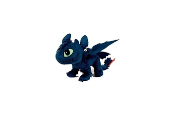 Figurines personnages Whitehouse Leisure Llp Peluche dragons - krokmou furie nocturne 45cm