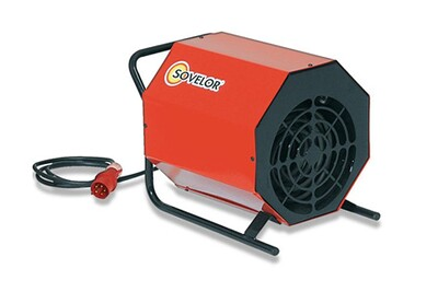 Cheminée électrique Sovelor Chauffage air pulsé portable électrique 380 V Tri SOVELOR C5
