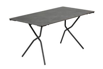 Table de jardin Lafuma Table rectangulaire pliante 140x80cm HPL ...
