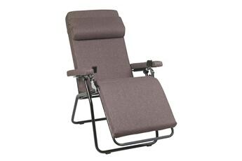 chaise et fauteuil de jardin fauteuil relax multiposition pliant en acier et polyester velvet touch rpl - Fauteuil Pliant Lafuma