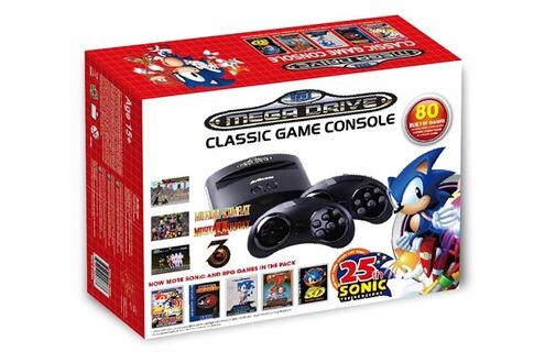 Sega Console Retro Sega Megadrive + 80 jeux - édition Sonic 25ème anniversaire