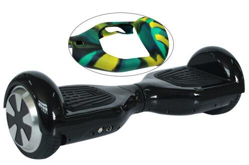 Gyropode Cool&fun HOVERBOARD GYROPODE 6.5 POUCES NOIR, COQUE DE PROTECTION EN SILICONE OFFERTE