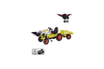 Véhicule à pédales Big Big 800056553 Tracteur Claas avec pelleteuse et remorque