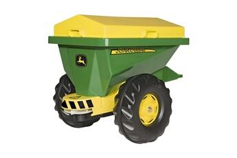 Véhicule à pédales ROLLYTOYS Rolly Toys 125111 RollyStreumax Trailer - Epandeur John Deere pour tracteurs Rolly toys
