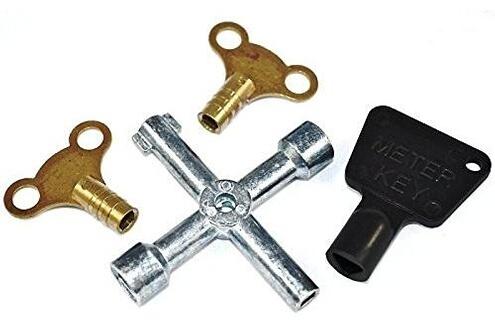 Alpexe Alpexe® Assortiment de clés de purge pour radiateur Multicolore