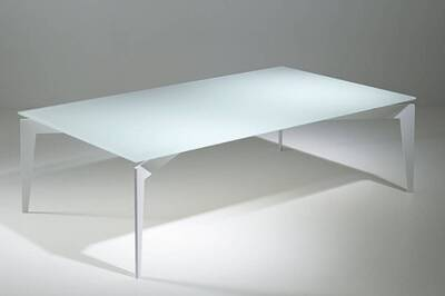 Table Basse Pezzani Table Basse Design Rocky En Verre Blanc Darty
