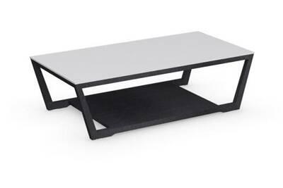 table basse inside 75 table basse element graphite avec plateau en verre blanc - Inside75 Table Basse