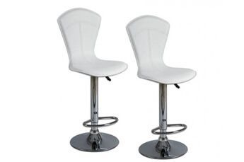 Lot de 2 chaises de bar Beautiful blanches