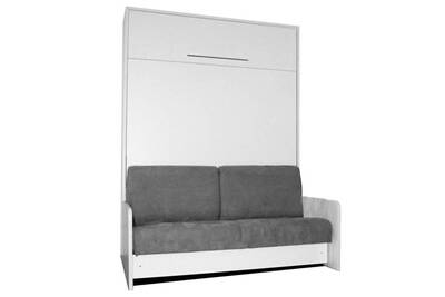 Lit De 2 Places Inside 75 Space Sofa Fast Armoire Lit Escamotable