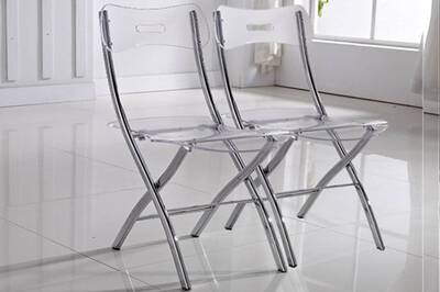 Ensemble Table Chaise Inside 75 Lot De 2 Chaises Pliantes Widow En Plexiglas Transparent