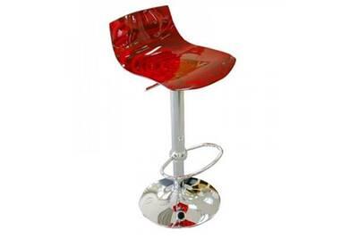 Bar Design En Rouge Plexiglas Chaise L'eau Transparent De 8n0OkwP