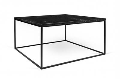 Table Basse Rectangulaire Gleam 75 Plateau En Marbre Noir Structure Noire