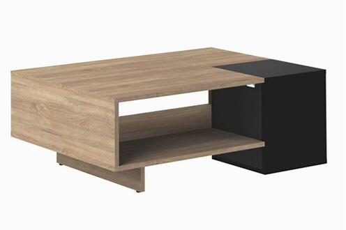 table basse inside 75 table basse design scandinave dainn noire - Inside75 Table Basse