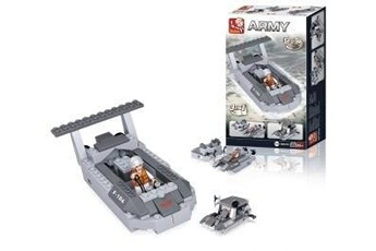 Autres jeux de construction Alpexe Jeu de construction Sluban Elements Aircraft Carrier Series Landing Craft 3-In-1
