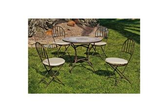 Ensemble table et chaise de jardin Hevea Jardin | Darty