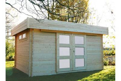 Abri De Jardin Solid Abri De Jardin En Bois Toit Plat Viborg 13 78m Darty