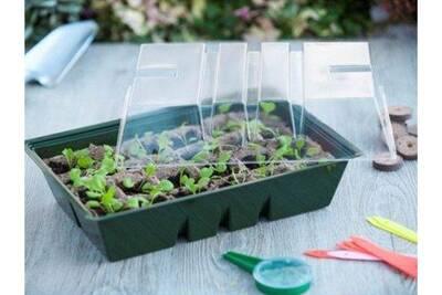 Serre de jardin Nature Mini-serre de culture en plastique souple 24 ...